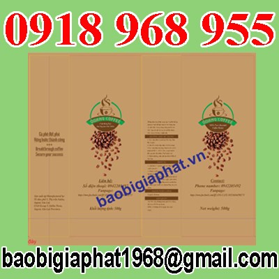 In túi cà phê giấy kraft ghép màng nhôm tui 500 gram| congtyinbaobigiay.com